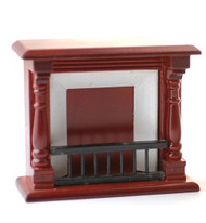 Mahogany Wooden Fireplace