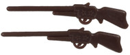 Small Pair of Brown Rifles Made From Metal