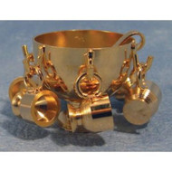 Brass Punch Bowl Set