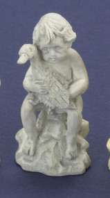 Ornamental Garden Statue of Boy with Duck