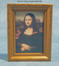 Framed Picture of the Mona Lisa
