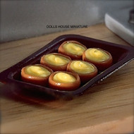 Dolls House Miniature Tray of Yorkshire Puddings