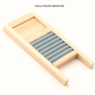 Wooden Ribbed Washboard