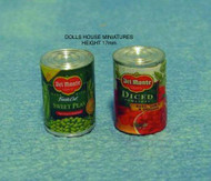 Two Tins Of Vegetables