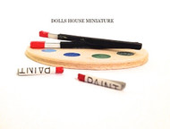 Dolls House Miniature Artists Paint Palette
