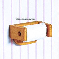 Wooden Toilet Roll Holder with Toilet Roll