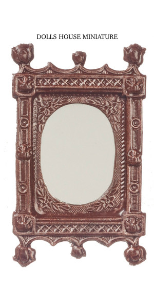 Ornate Mirror Frame Finished In Brown Paint Dolls House Gallery