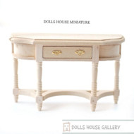 Plain Wood Hall Table with Opening Drawer