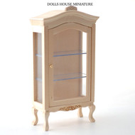 Plain wood Display Cabinet with Opening Door