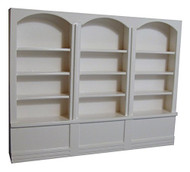 Large White Shop Shelving Unit