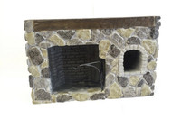 Colonial Fieldstone Walk-in fireplace