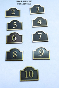 House Numbers Bridge Top Design