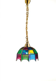 Heidi Ott Coloured Tiffany Hanging Lamp 12 Volt