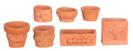 Seven Assorted Garden Pots