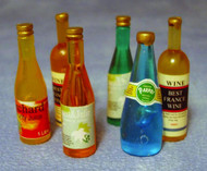 Six Mixed Wine Bottles