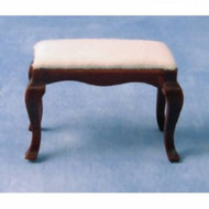 Mahogany Footstool With Fixed White Cushion