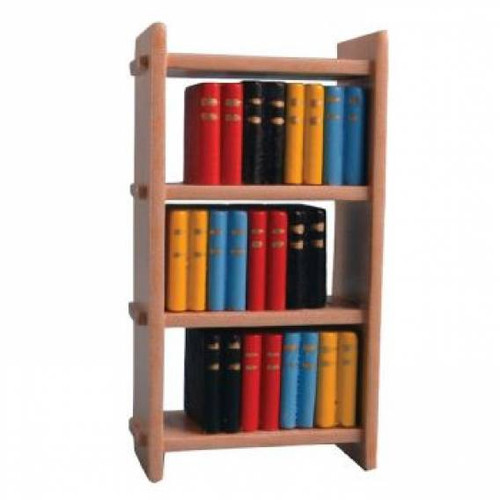 Small Wooden Bookcase Amp Books Dolls House Gallery