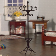 Black Coat & Hat Stand