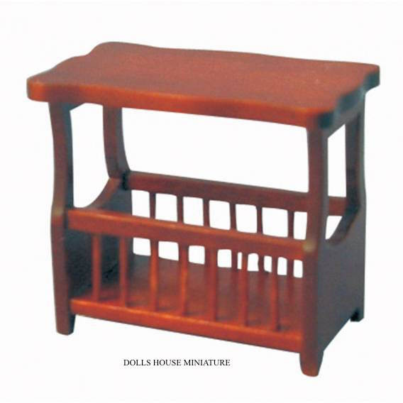 Mahogany Small Table With Magazine Rack Dolls House Gallery