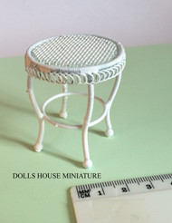 Small White Wire Drinks Table