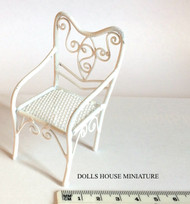 Small White Wire Garden Chair