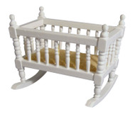 White Rocking Cradle