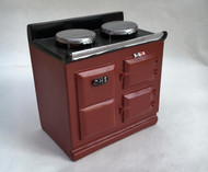 Red Aga Style Stove