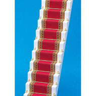 Red & Gold Edged Stair Carpet