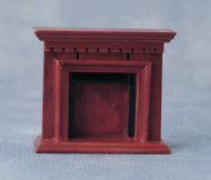 1.24th Scale Mahogany Fireplace