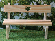 Love Heart Garden Bench