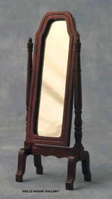 Full Length Mahogany Swivel Dress Mirror