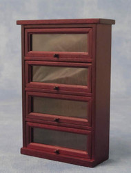 Mahogany Display Cabinet With 4 Shelves