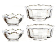 Set Of 4 Clear Bowls