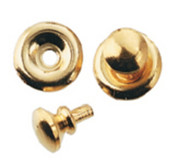 Six Traditional Gold Door Knobs With Backplate
