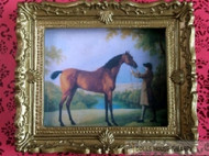 Ornate Gold Framed Picture Of A Horse