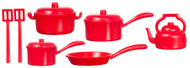Red Kitchenware Pots & Pans Set