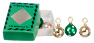 Spotted Christmas Baubles With Green Box