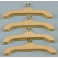 Natural Wood Coat / Clothes Hangers 4 Pack