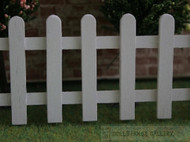 White Picket Garden Fence Approx. L-350mm, H-53mm