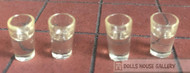 Four Filled Glasses 10mm Tall