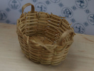 Wicker Basket Oval Shaped With Handles