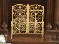 Ornate Fire Golden Screen