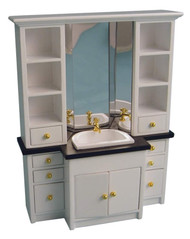White Bathroom Sink / Vanity Unit