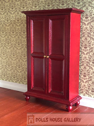 Mahogany Two Door Wardrobe On Feet