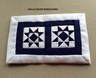 Hand Crafted Blue & White Small Quilt