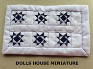 Hand Crafted Blue & White Quilt