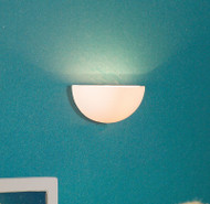 White Half Moon Wall Light