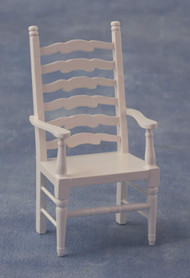 Ladderback Carver White Chair