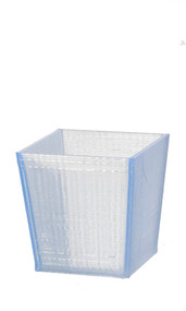 Square Office or Home Light Blue Paper Waste Bin