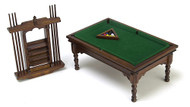Pool Table Set With Cue Rack & Cue's